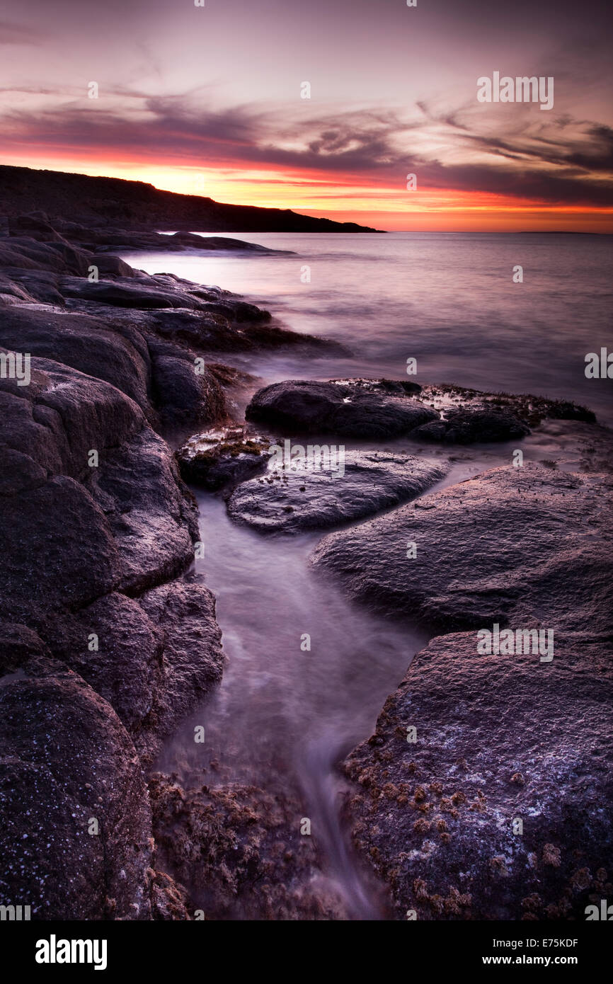 Rocky shoreline, Eyre Peninsula South Australia Stock Photo