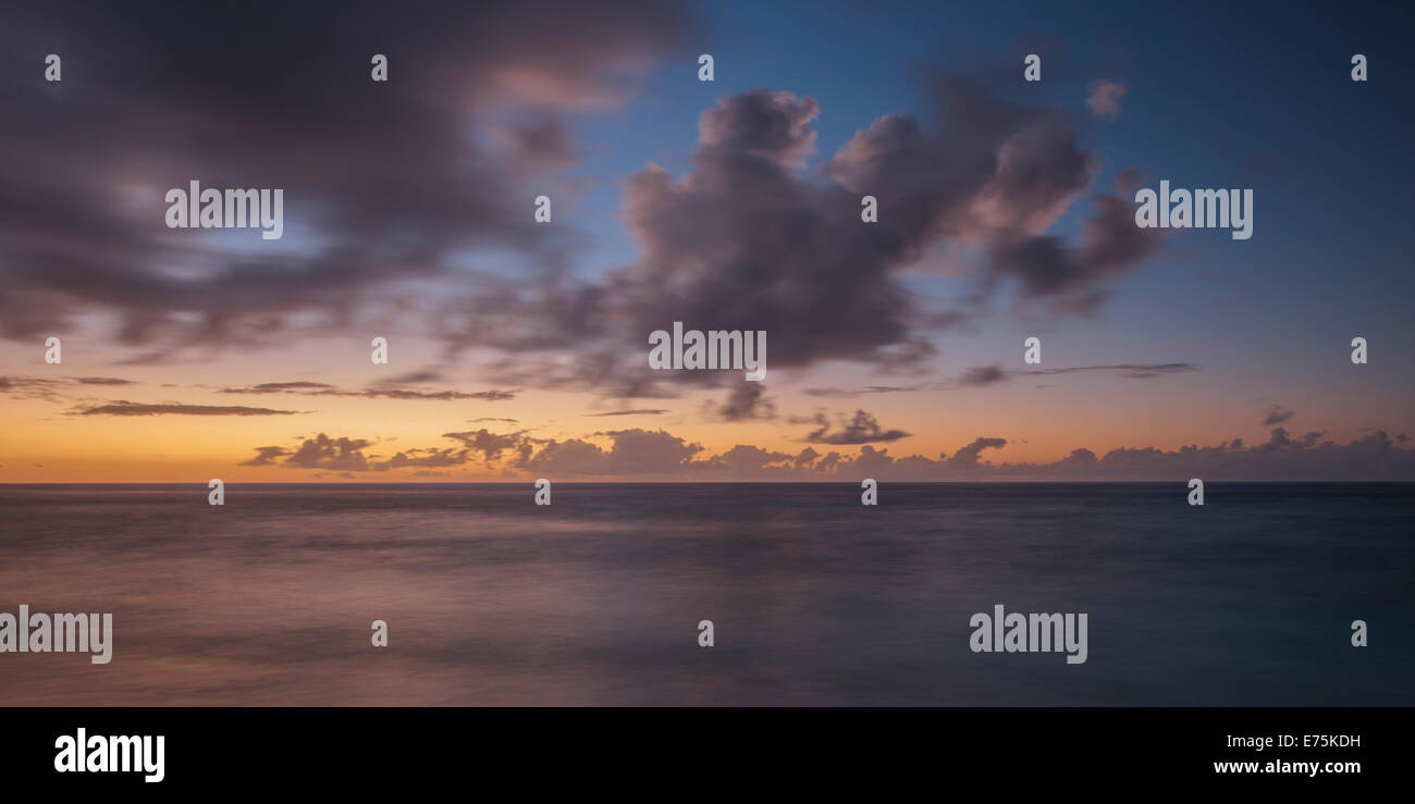 Seascape Great Barrier Reef Queensland Australia - Stock Image