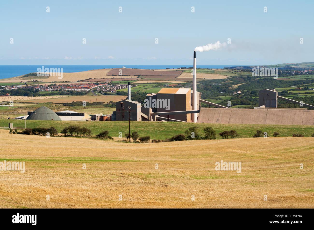 ICL Fertilizers Boulby Potash Mine, Loftus, North Yorkshire, England, UK - Stock Image