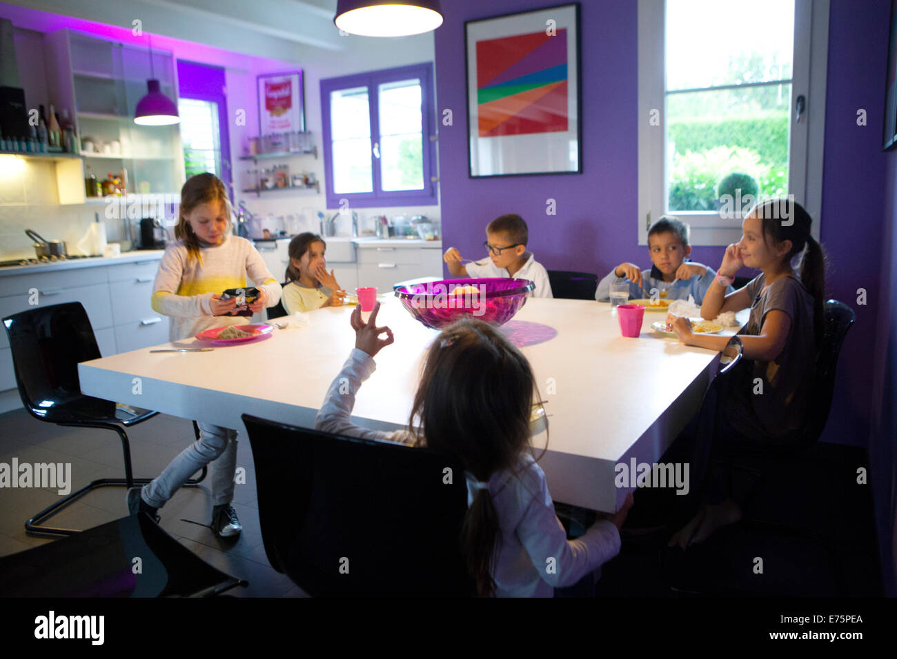 Large family - Stock Image