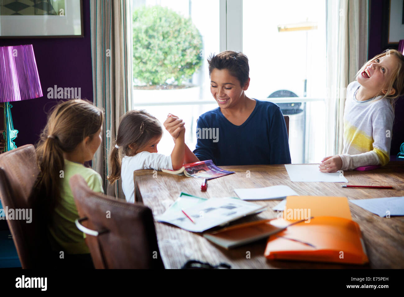 Large family Stock Photo