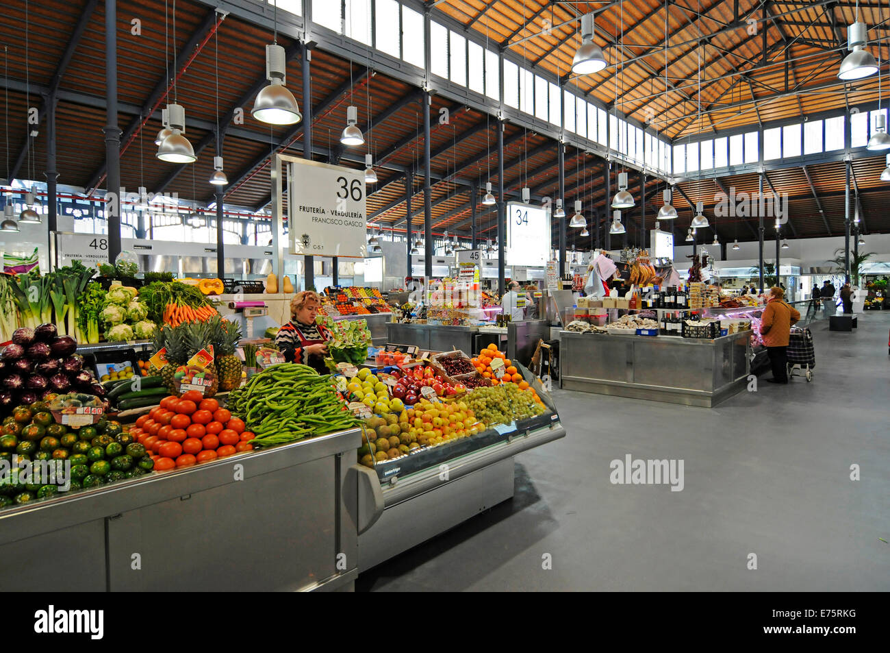 Mercado Central, indoor market, Almeria, Andalusia, Spain - Stock Image