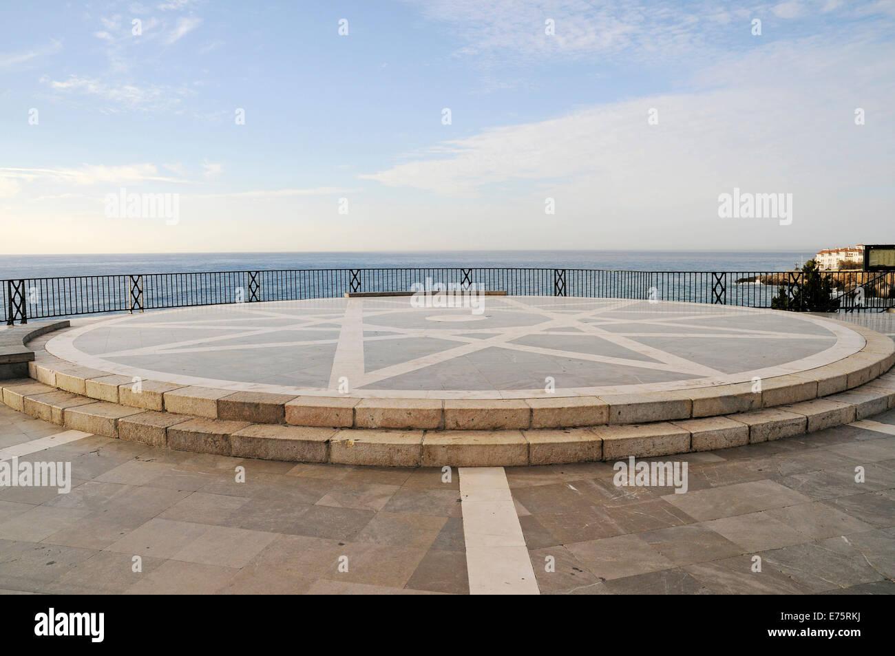 Balcon de Europa, observation deck, Nerja, Málaga Province, Costa del Sol, Andalusia, Spain - Stock Image