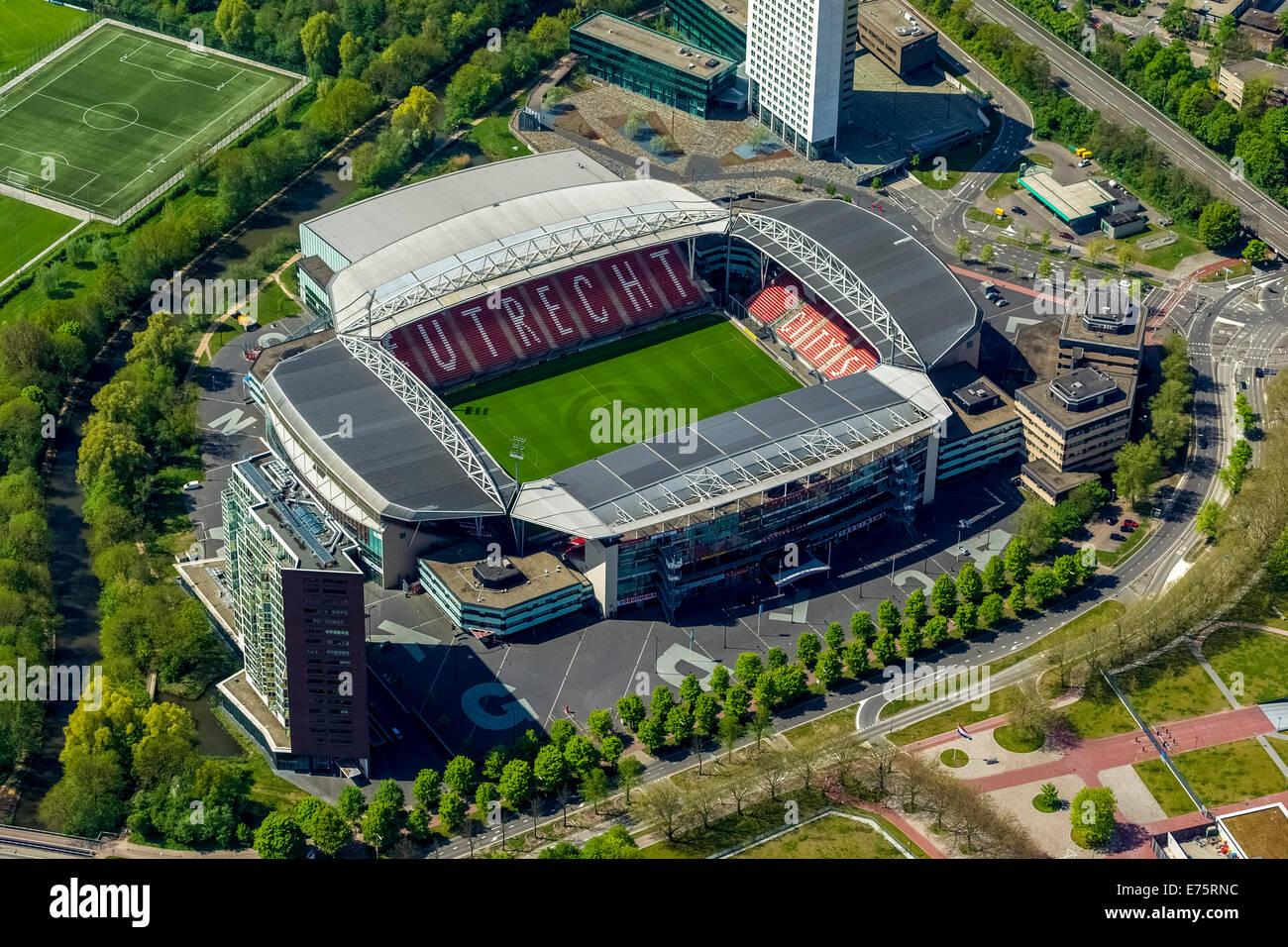Aerial view, Stadion Galgenwaard, football stadium, Utrecht, Province of Utrecht, Netherlands - Stock Image