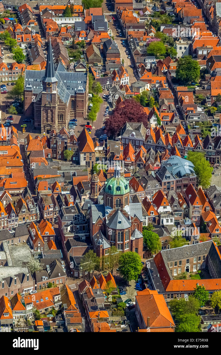 Aerial view, Hoorn, Province of North-Holland, Netherlands - Stock Image