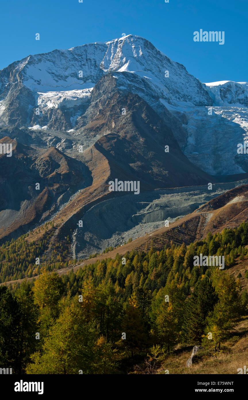 Pigne d'Arolla mountain, Arolla, Canton of Valais, Switzerland Stock Photo