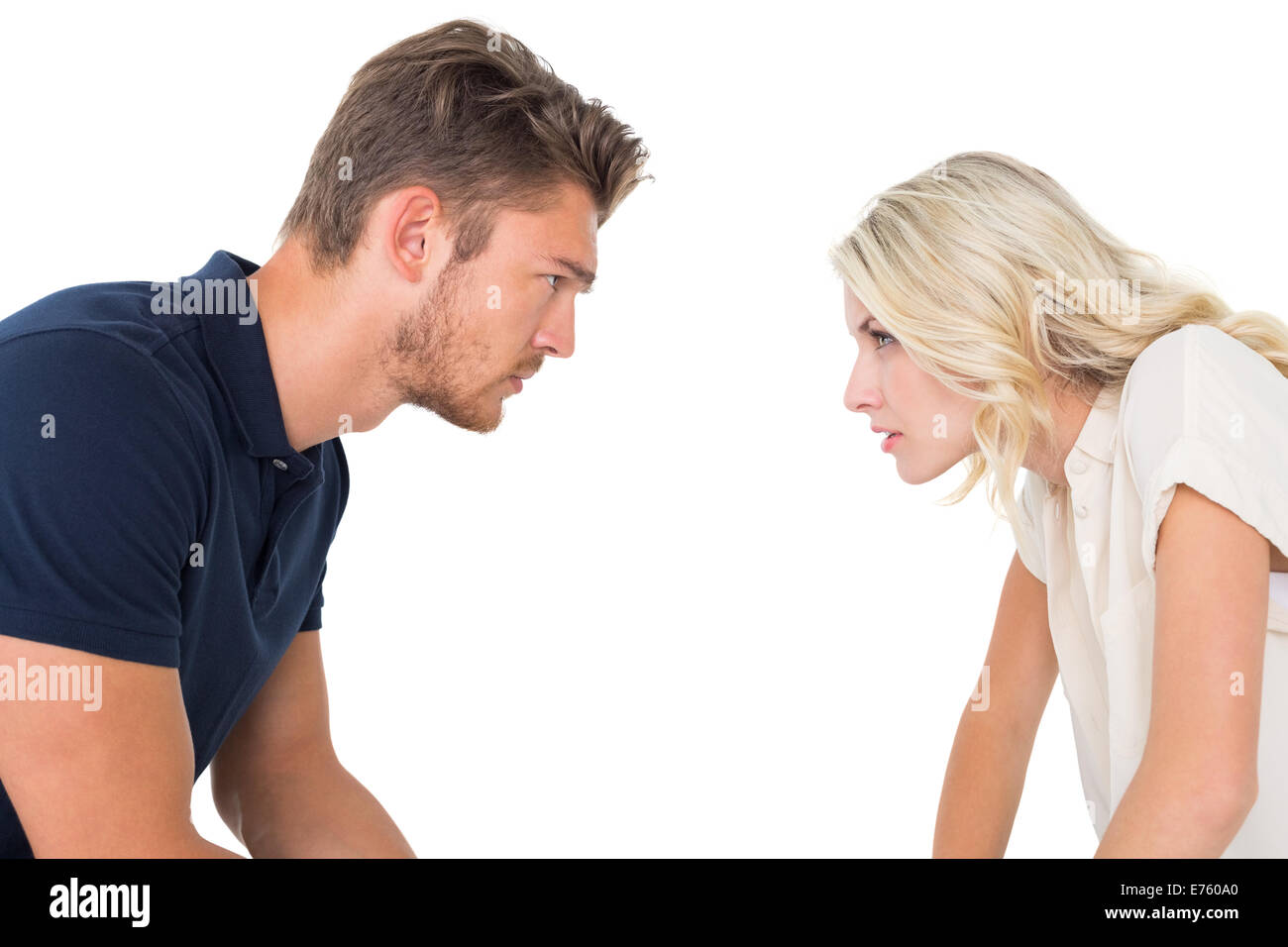 Young couple having relationship problems - Stock Image