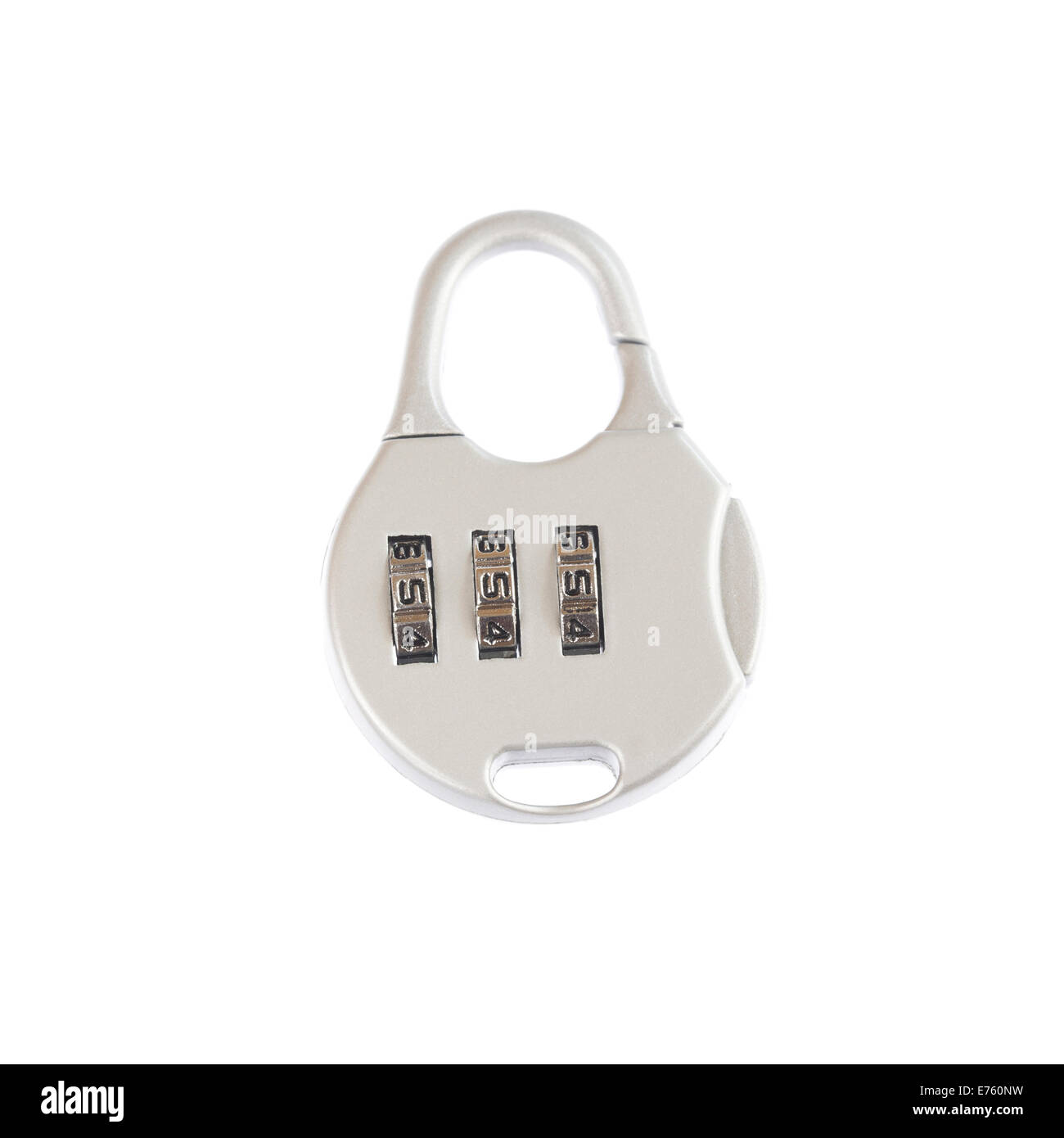 Padlock with code numbers - Stock Image