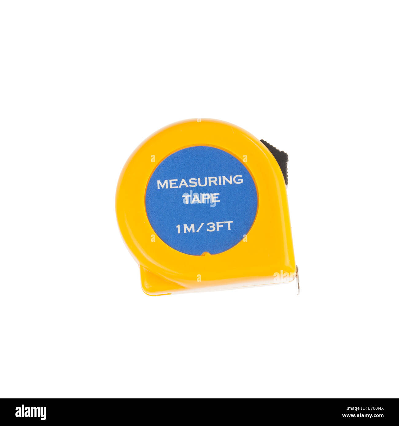 Tape measure on a white background - Stock Image