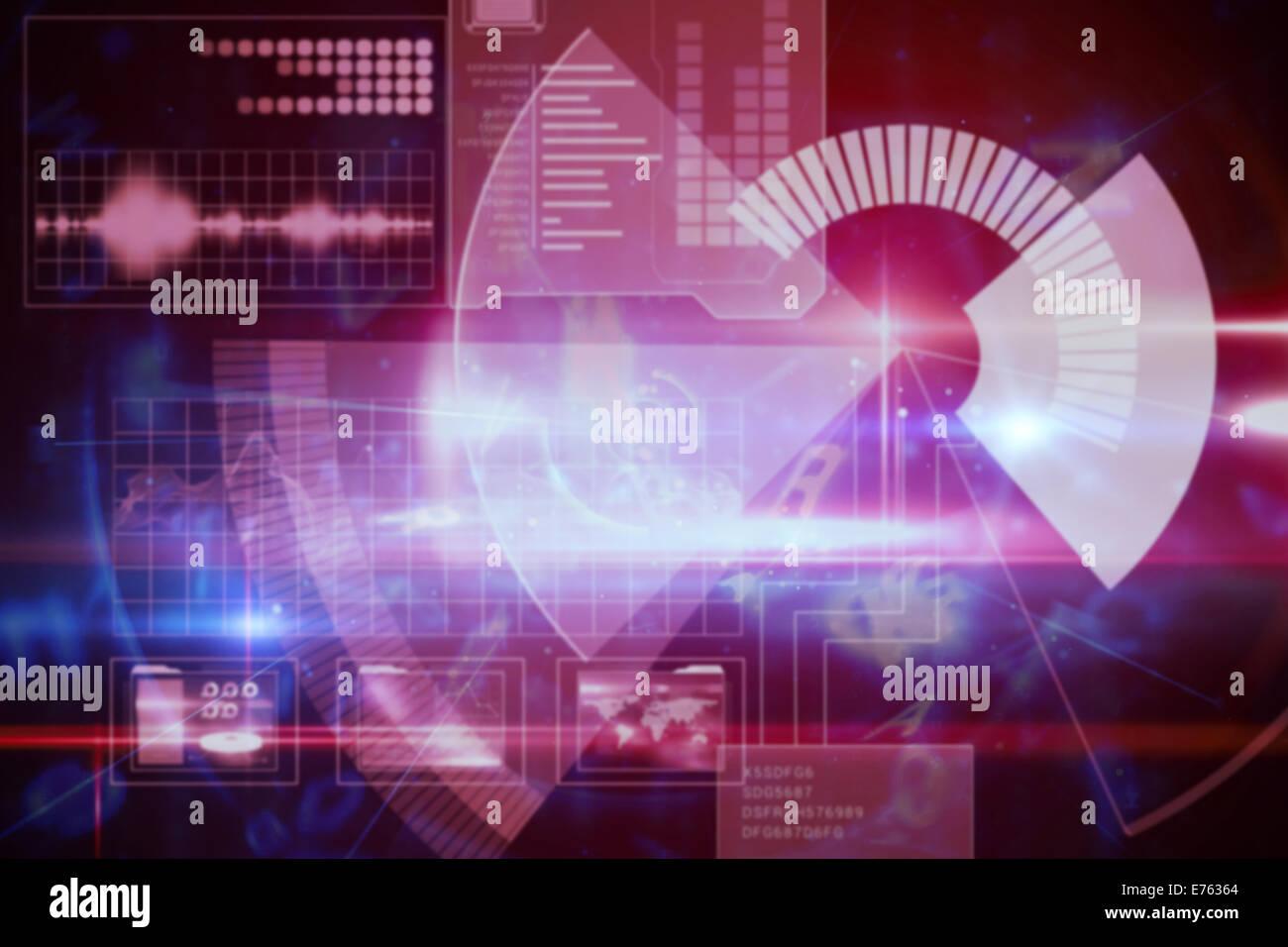 Digital technology interface - Stock Image