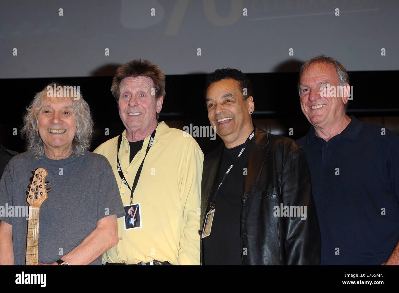 Albert Lee's 70th Anniversary Concert held at Cadogan Hall - Inside  Featuring: Albert Lee,Joe Brown,Gary US - Stock Image
