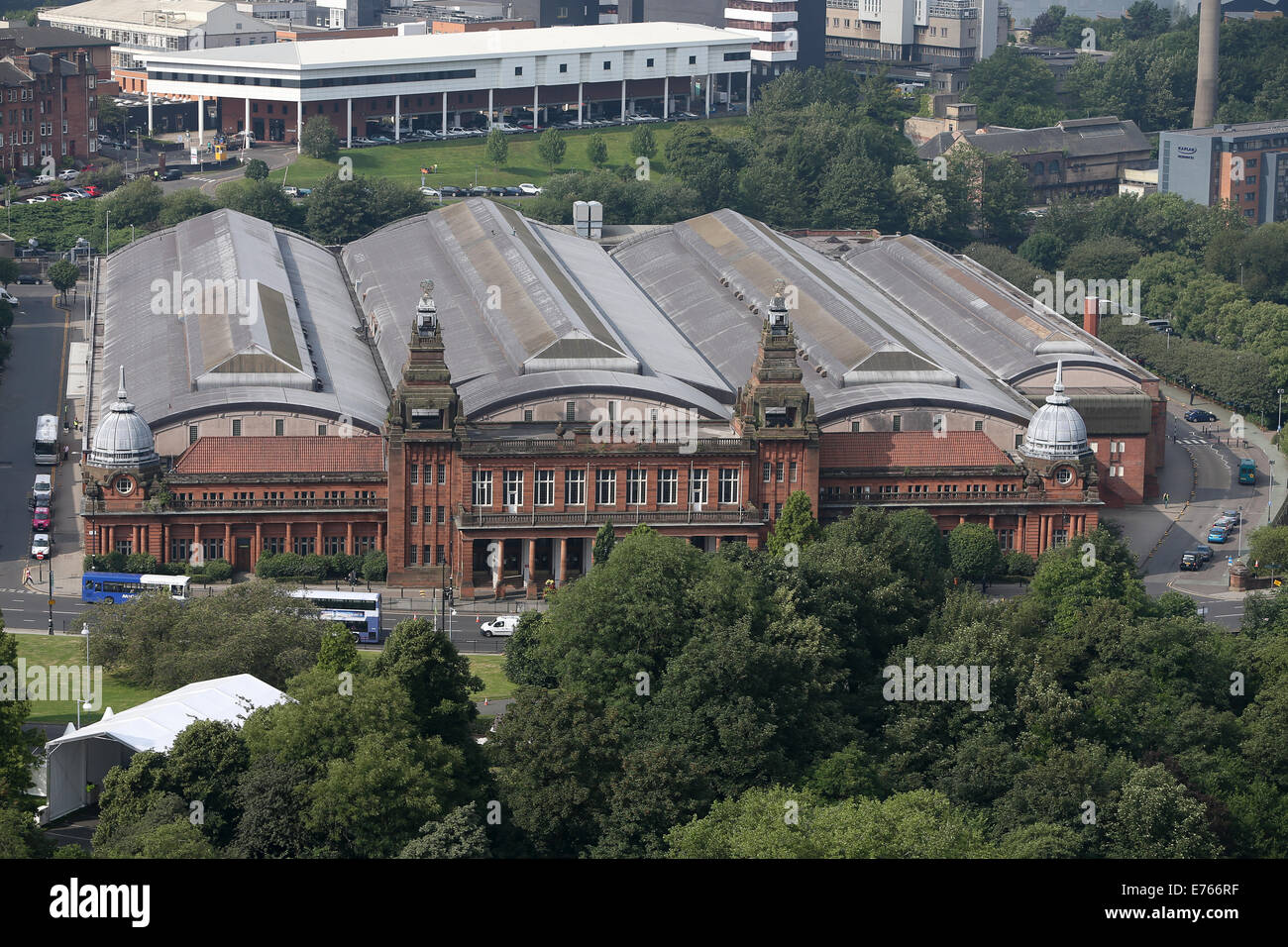 Aerial view of Kelvin Hall Glasgow - Stock Image