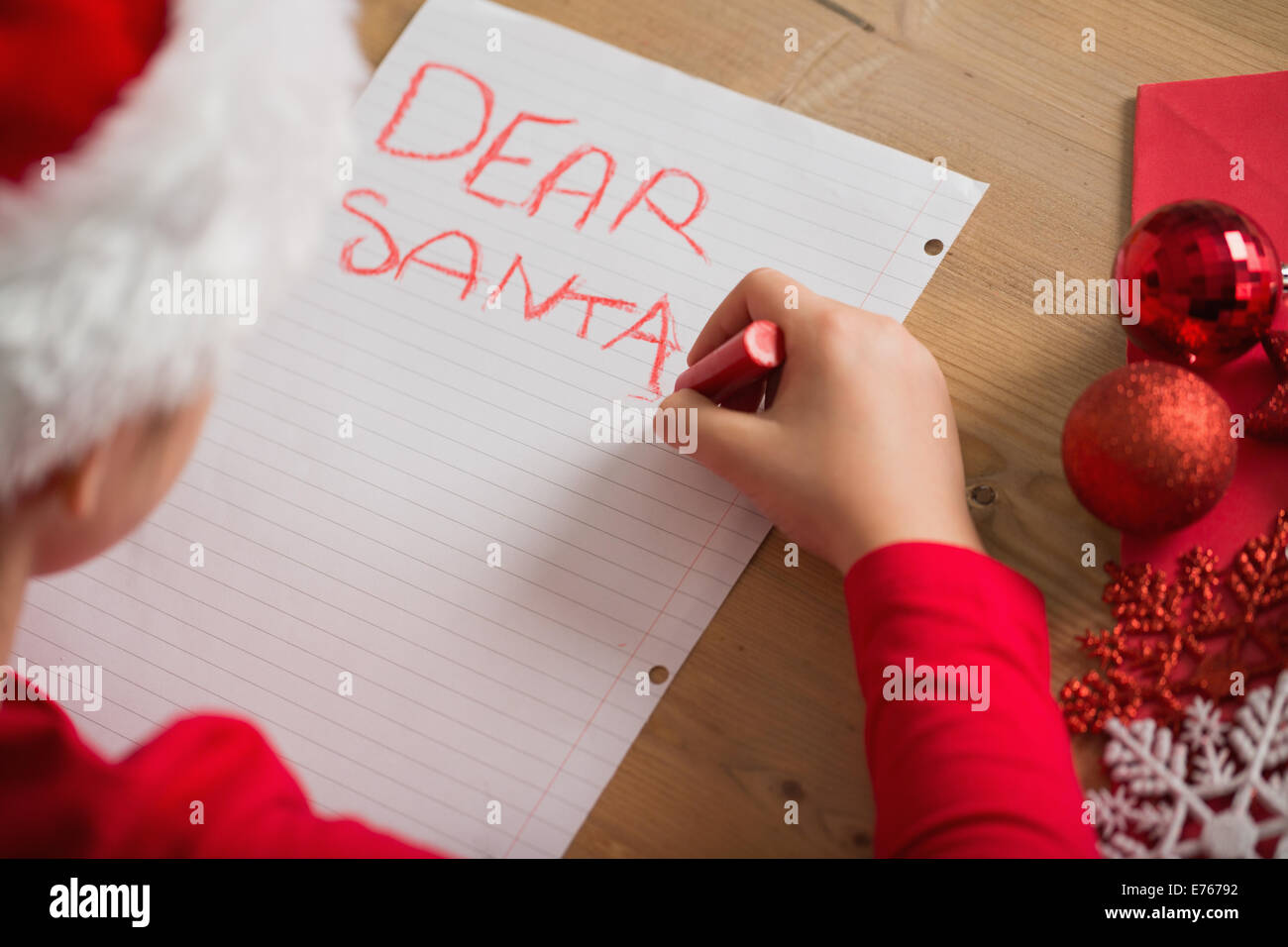 Santa Writing Desk Stock Photos  Santa Writing Desk Stock Images