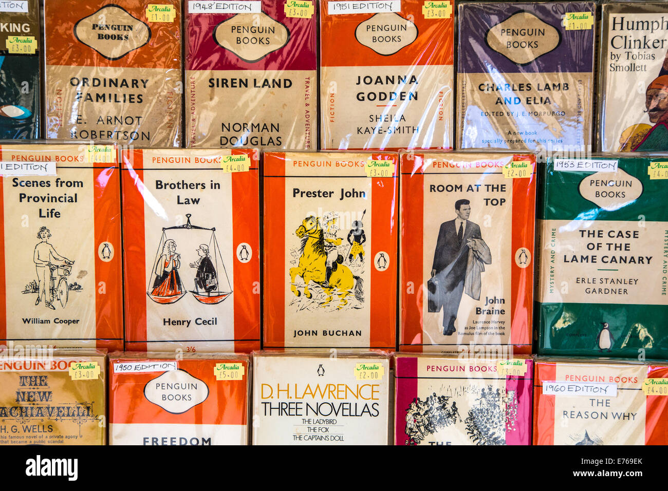 Secondhand Penguin Paperbacks - Stock Image