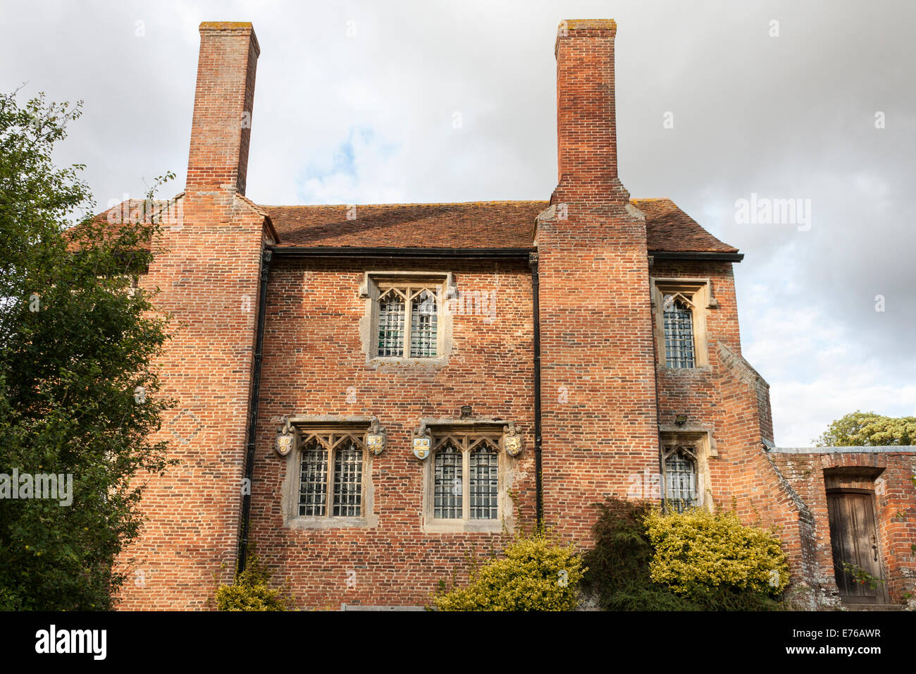 Ewelme School, est. 1437, the oldest school building in the UK still in use as a  school. Ewelme, Oxfordshire, England, - Stock Image