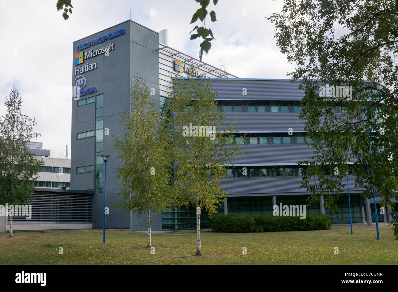 Microsoft building in Oulu Finland - Stock Image