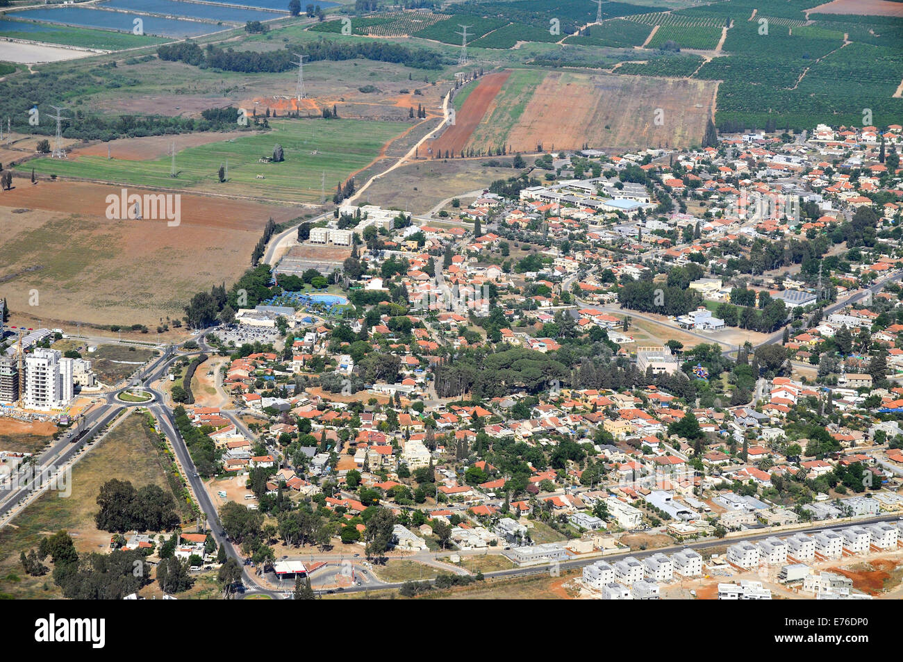 Rural aerial photography. Photographed in Israel - Stock Image