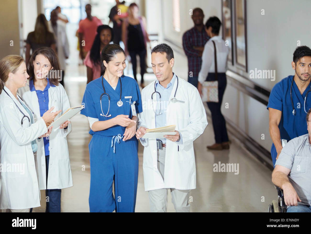 Busy Doctor Hurried Nurse advise