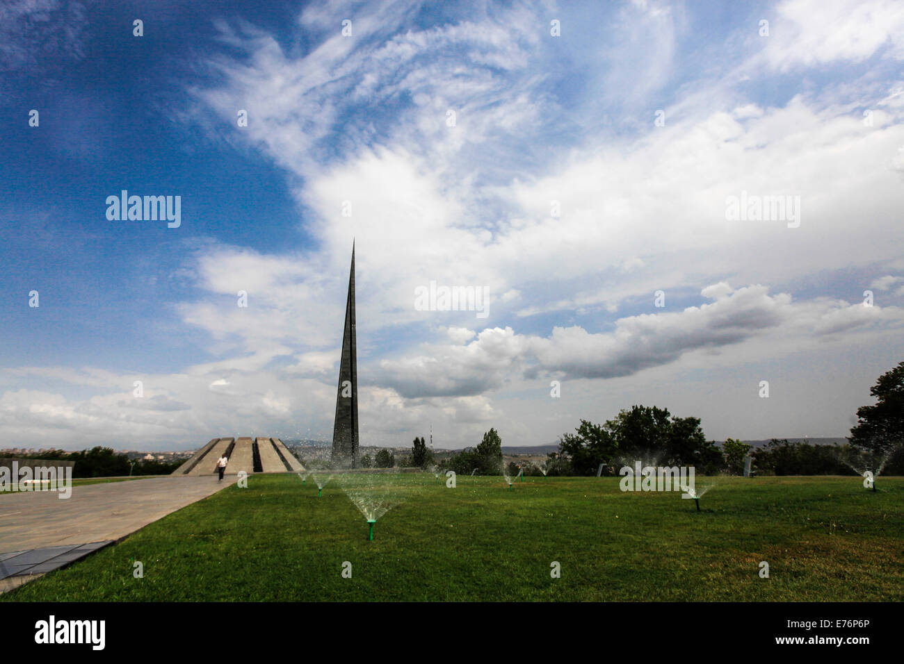 Armenia, Yerevan, Tsitsernakaberd, Museum and Memorial of the 1915 Armenian Genocide - Stock Image