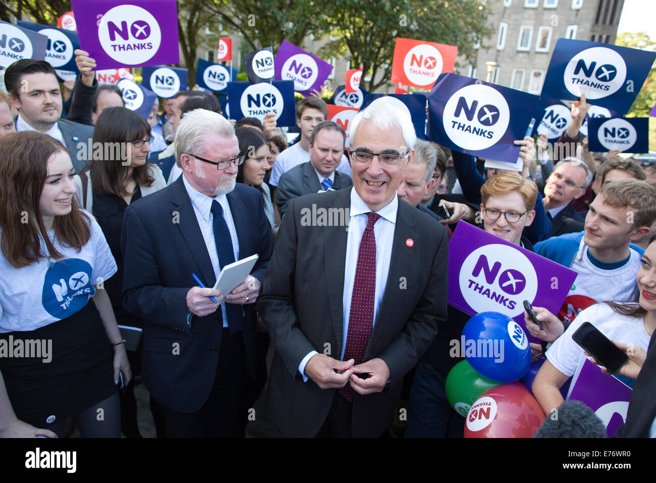 Edinburgh, Scotland, UK. 8th Sep, 2014. Picture shows Alastair Darling leader of 'Better Together' campaign - Stock Image