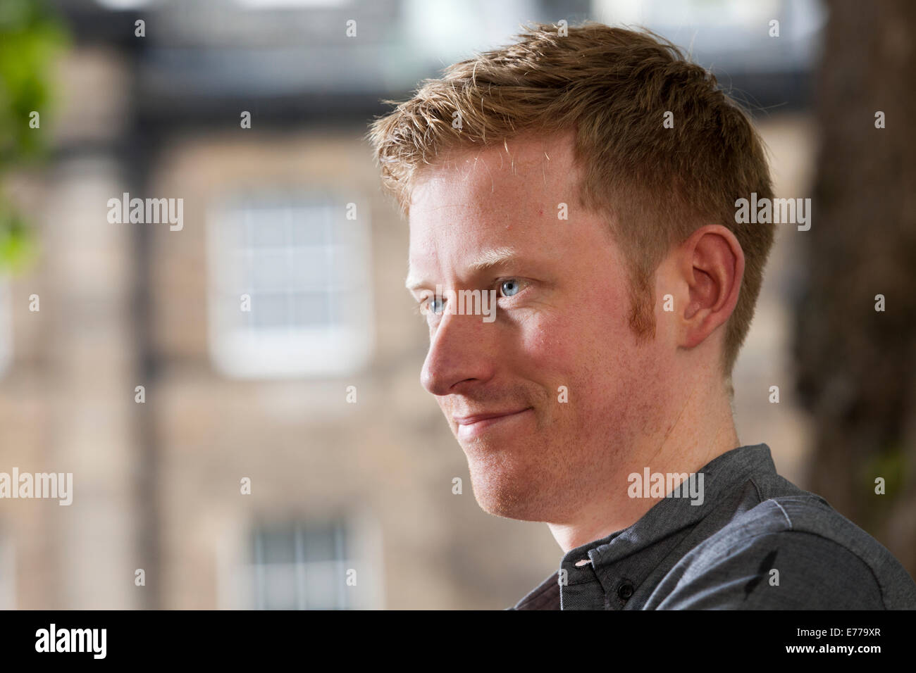 Colin Barrett, author, at the Edinburgh International Book Festival 2014. Edinburgh, Scotland. 10th August 2014 - Stock Image