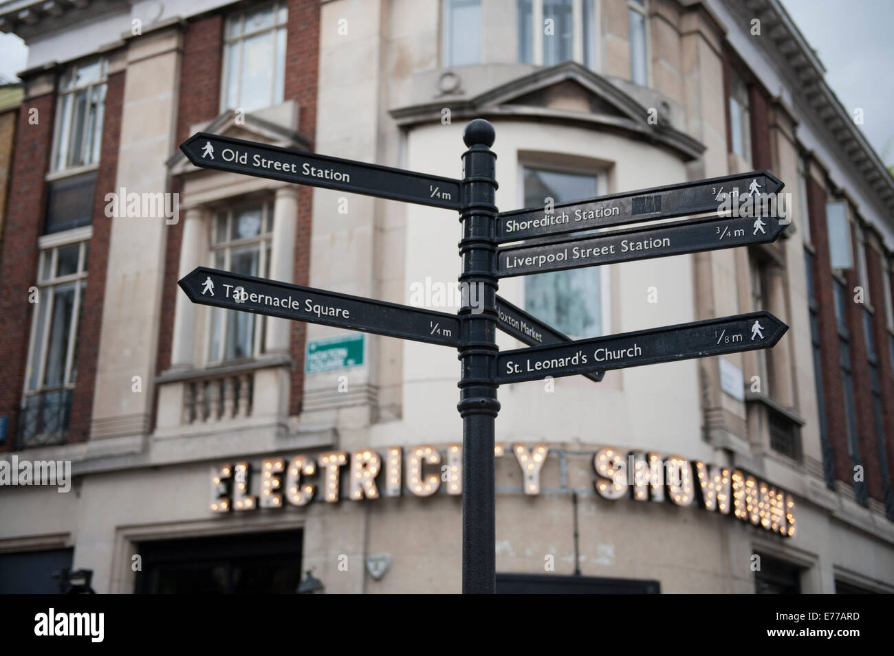 The Electriciy Showrooms in Shoreditch Hoxton East London - Stock Image