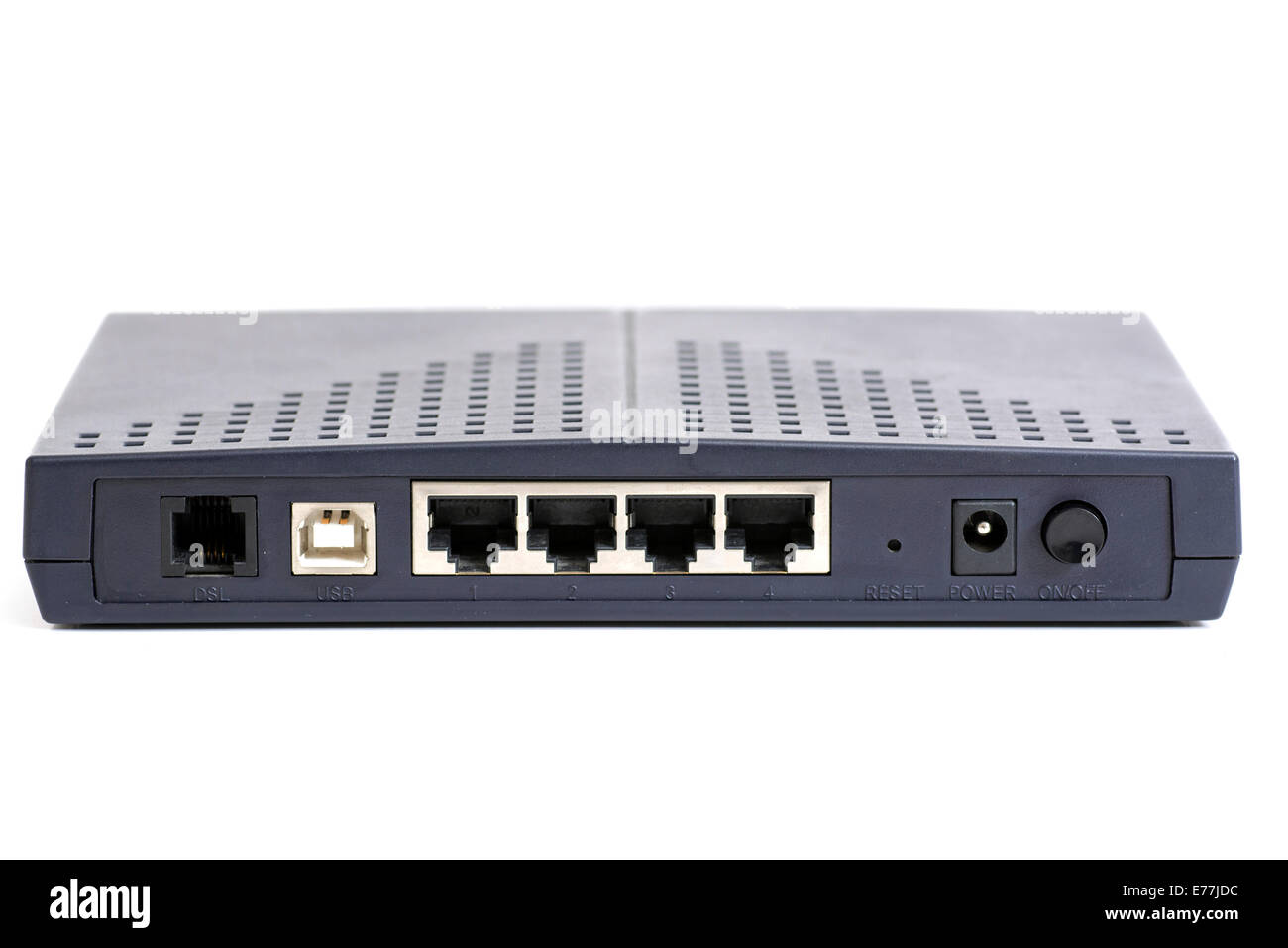 Back Side Of A Modem Wired Type Stock Photo 73312216