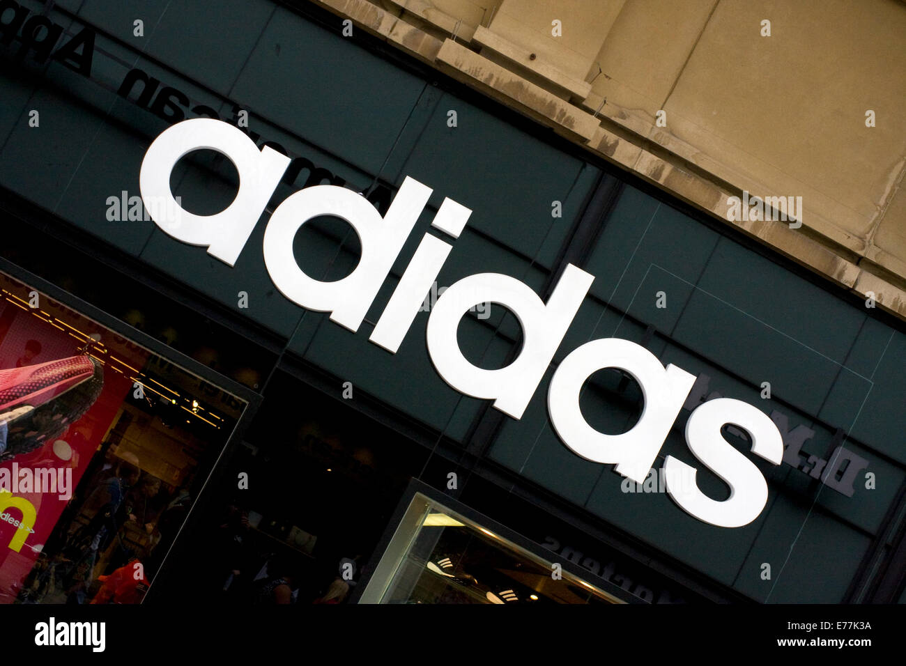 Adidas High Street Sportsware Shop - Stock Image