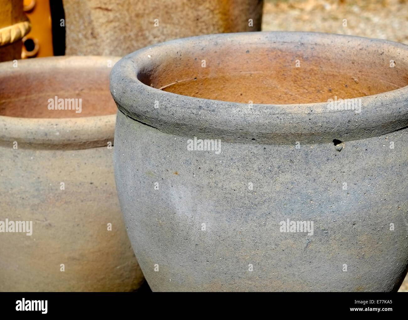 Ceramic Garden Pots On Sale In A Garden Centre England Uk