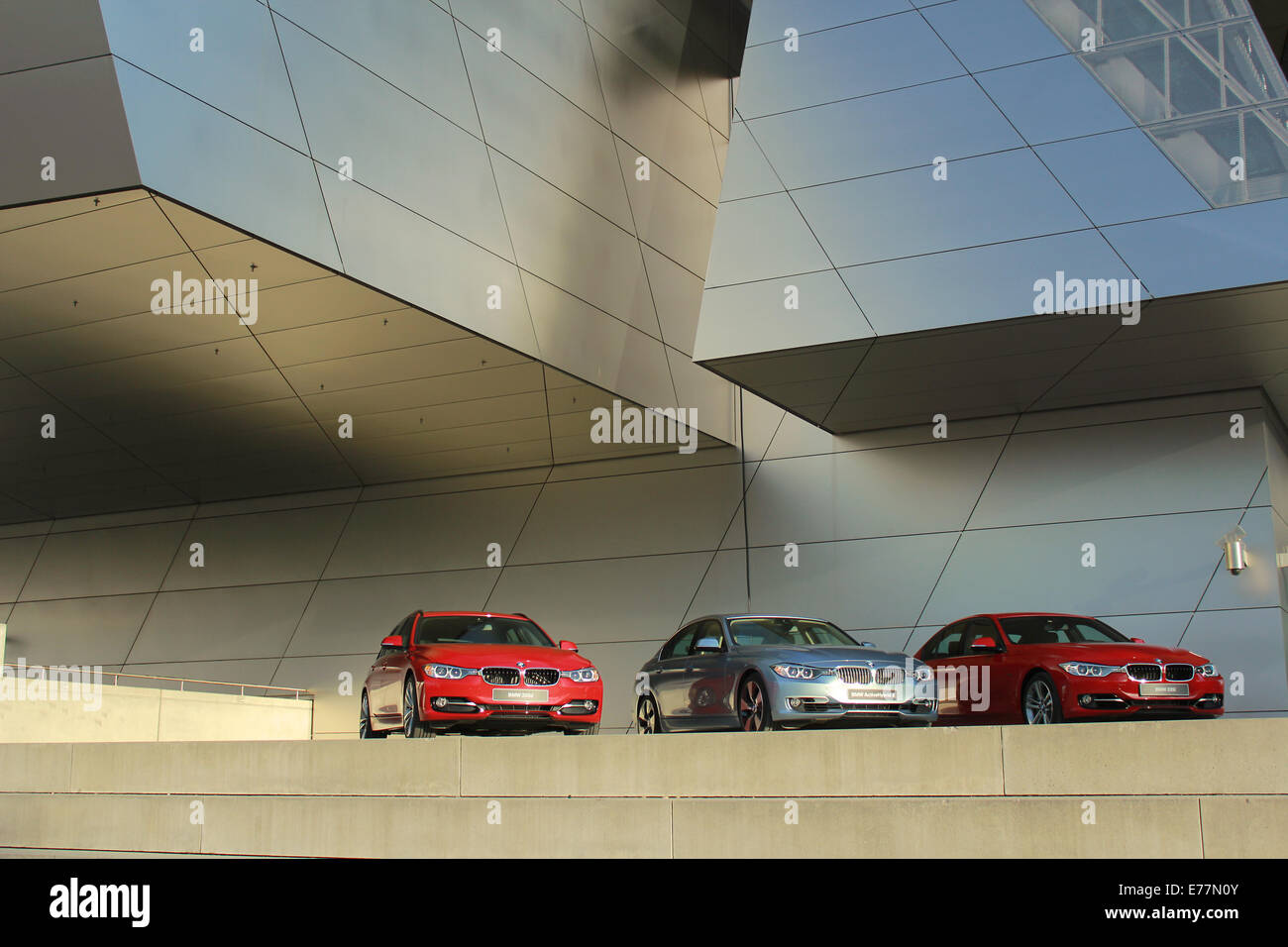 Outside view of the BMW Welt building, Münich, Germany. - Stock Image