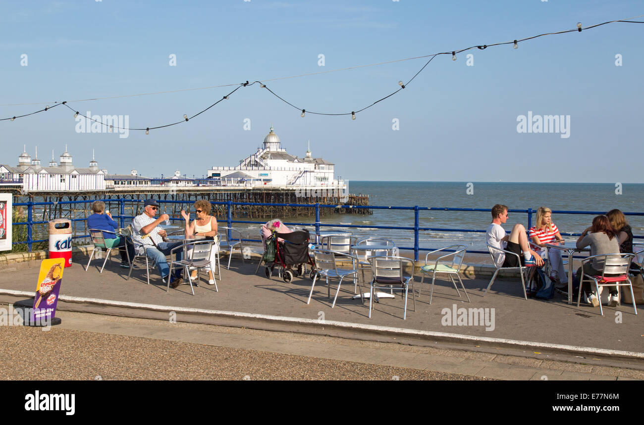 The Beach Eastbourne Seafront Daytime UK - Stock Image