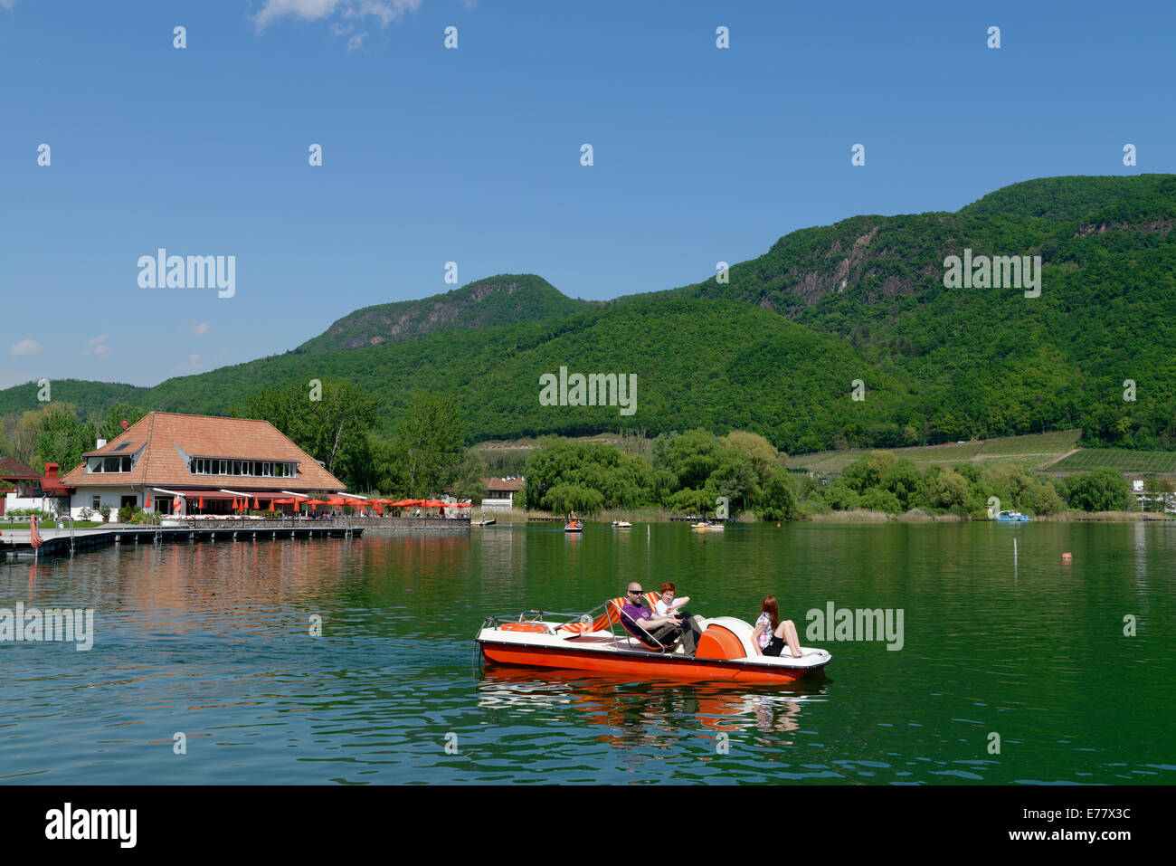 St. Josef on Kalterer See, Kaltern, Überetsch, South Tyrolean Unterland, South Tyrol, Italy - Stock Image