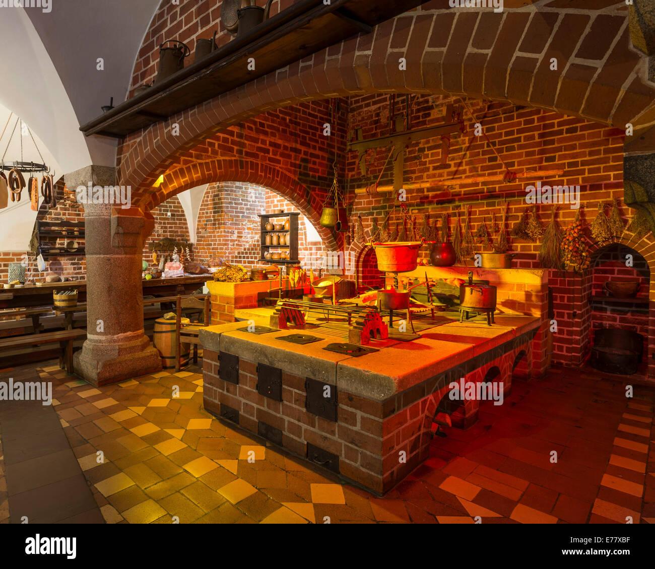 Medieval Kitchen Malbork Castle Pomeranian Voivodeship Poland