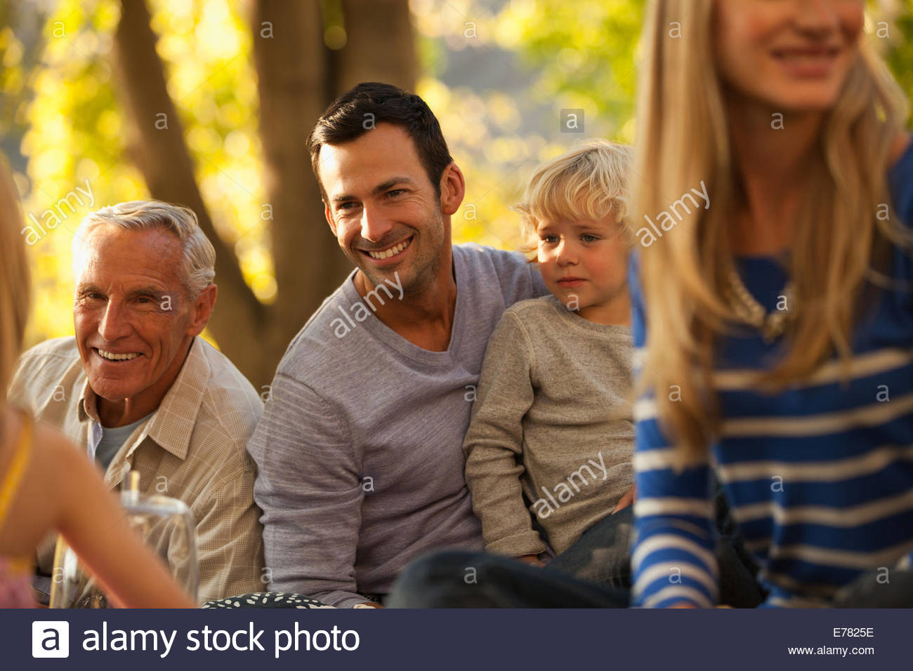 Three generation family - Stock Image