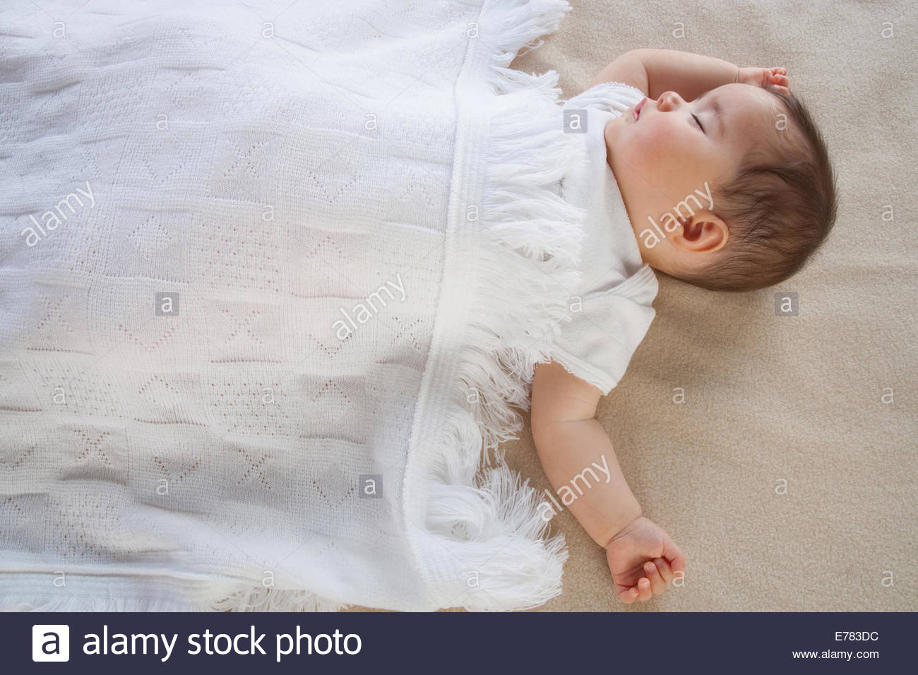 A baby sleeping - Stock Image