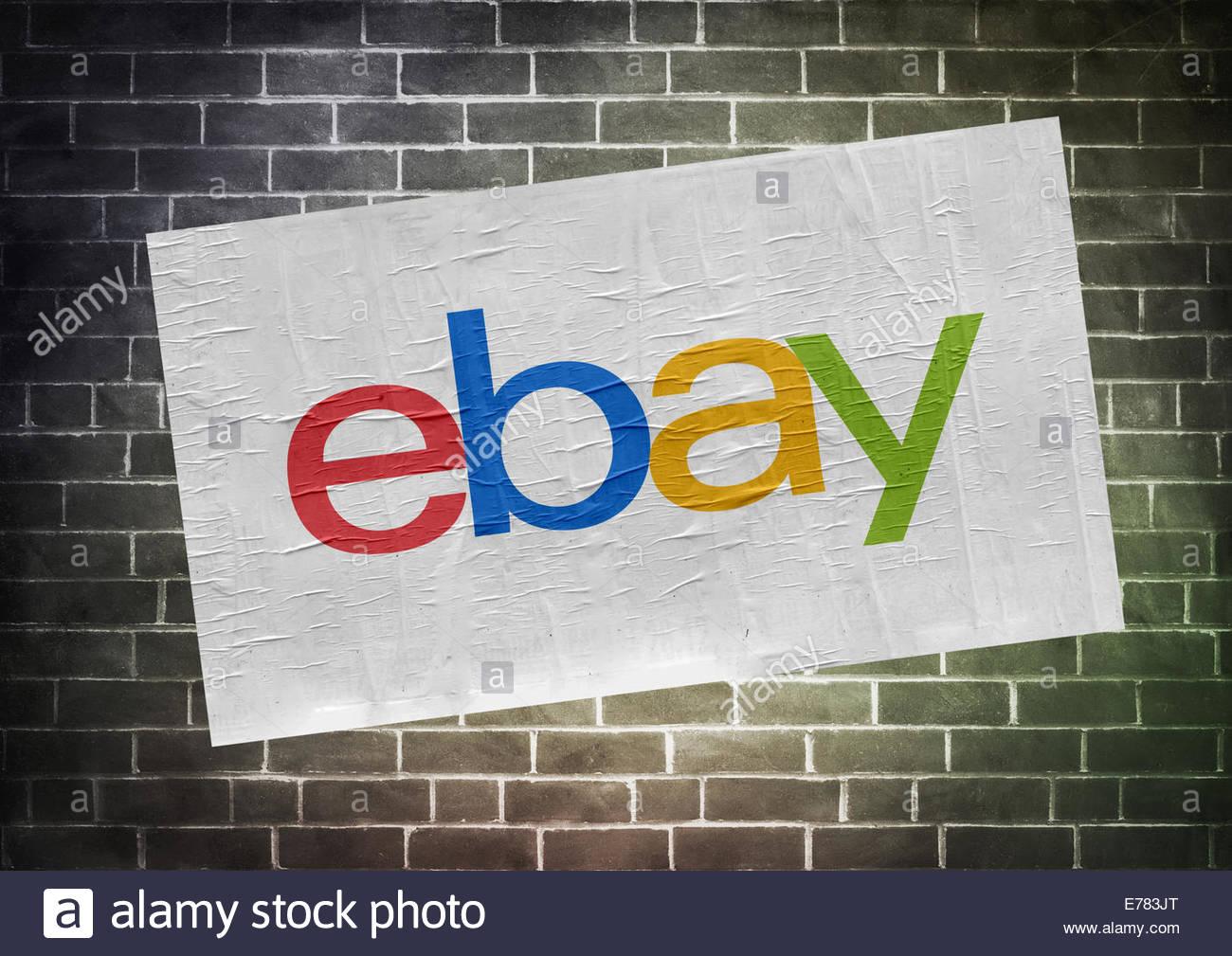 Ebay icon logo - poster concept - Stock Image