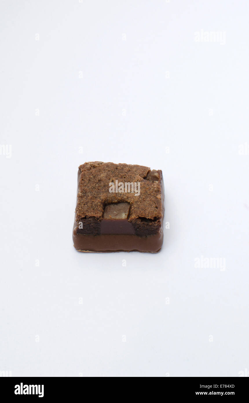 Thorntons mini brownie on white background - Stock Image
