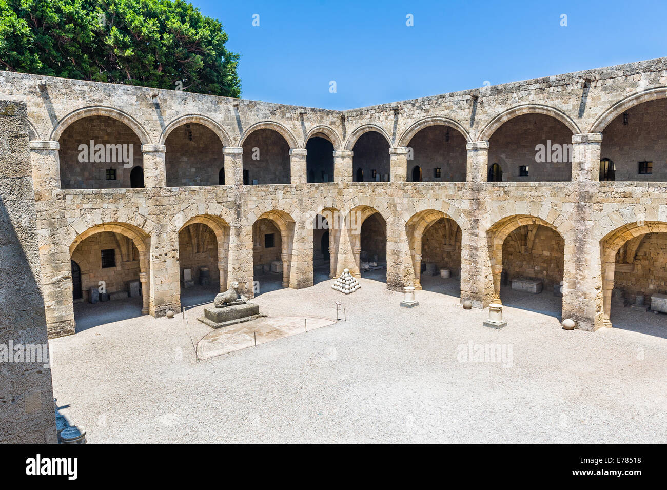 Castle of Templar knights at Rhodes - Stock Image