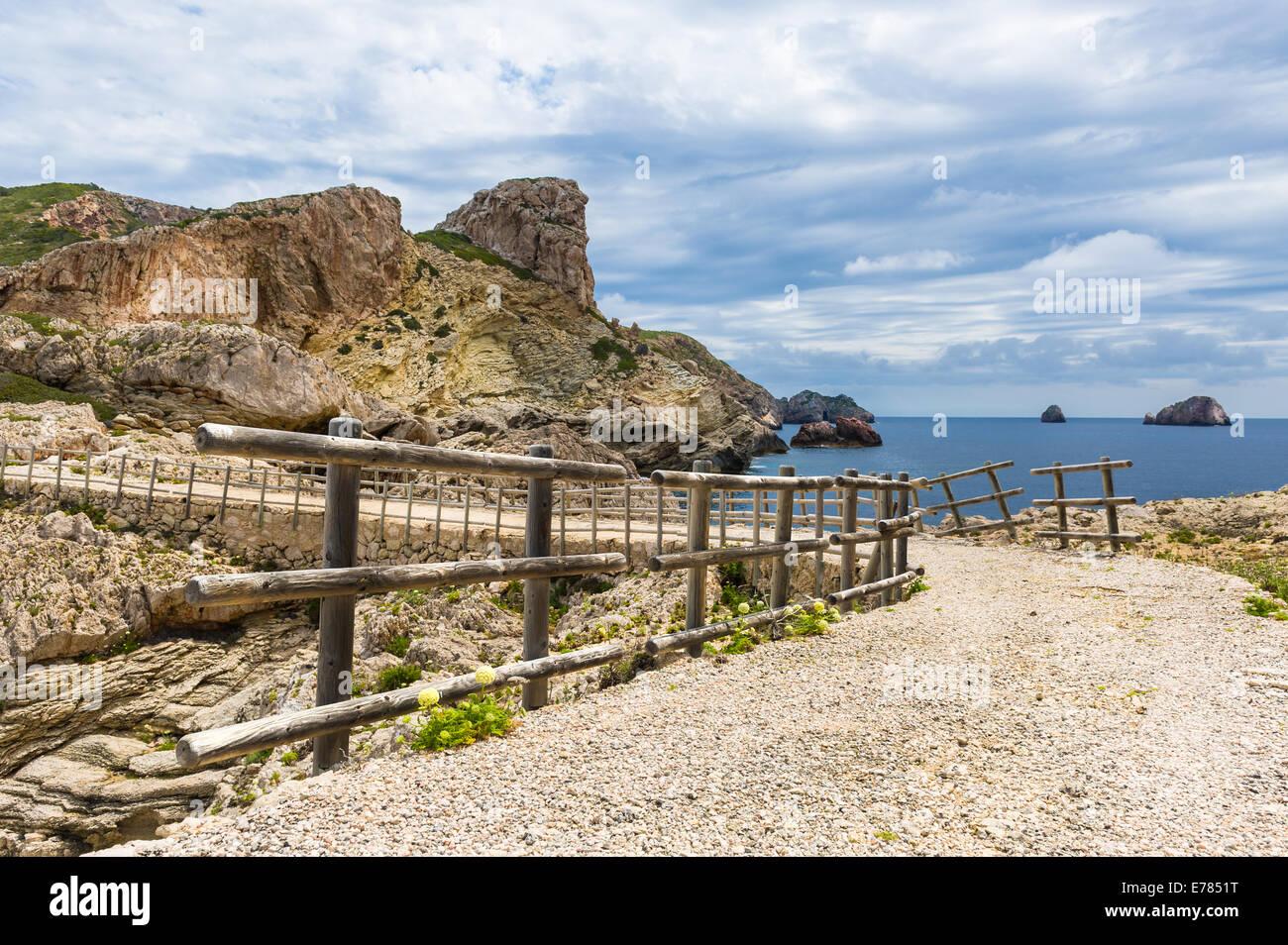 Balearic island pedestrian way - Stock Image