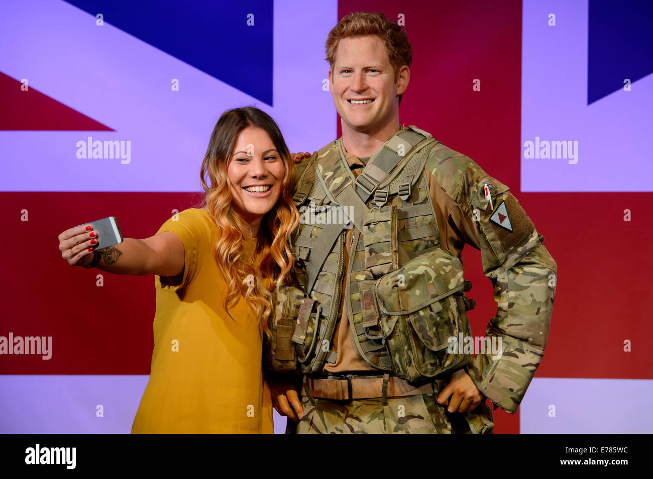 Madame Tussauds London has revealed a new wax figure of His Royal Highness Prince Harry. - Stock Image
