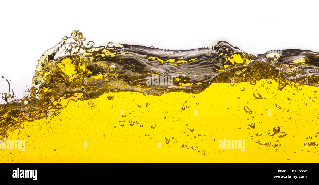 An abstract image of spilled oil . On a white background. - Stock Image