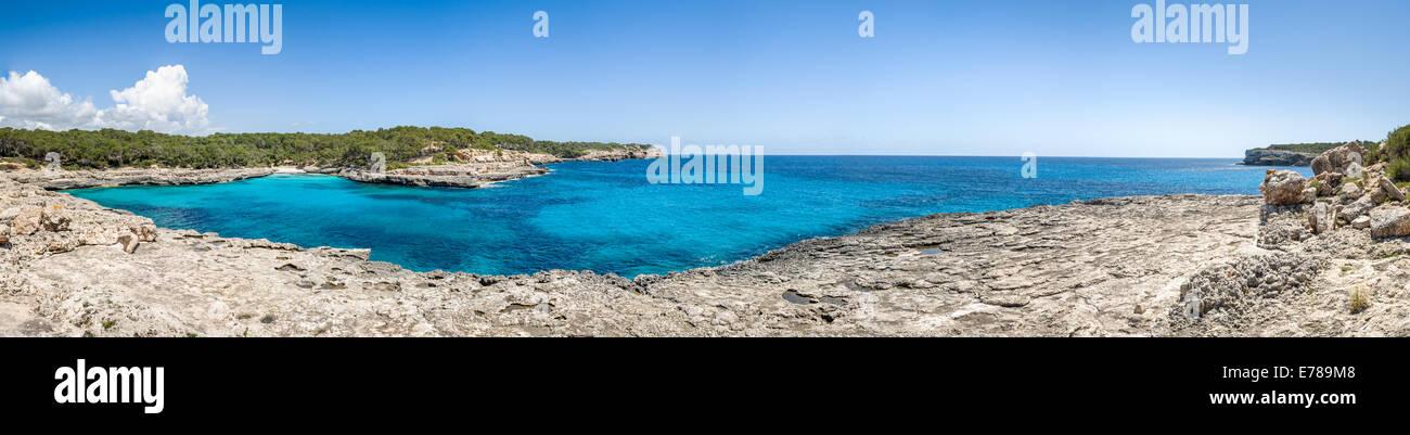 Cala Mandrago panorama - Stock Image