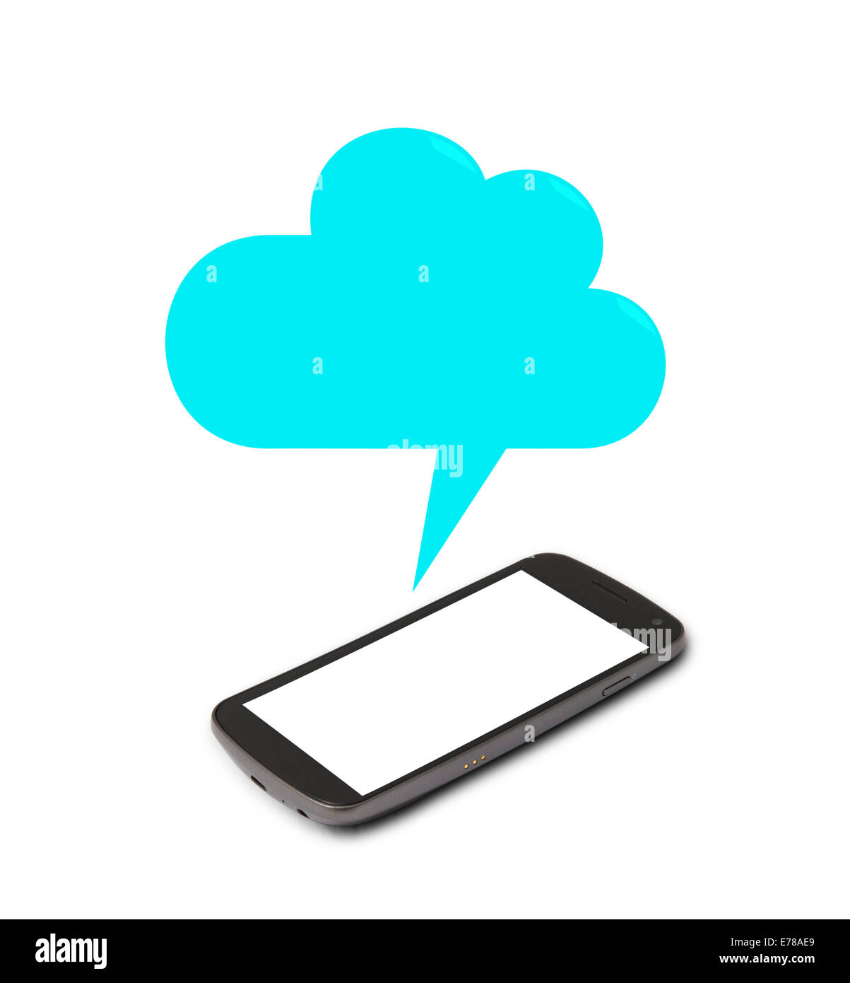 Smart phone with speech bubble - Stock Image
