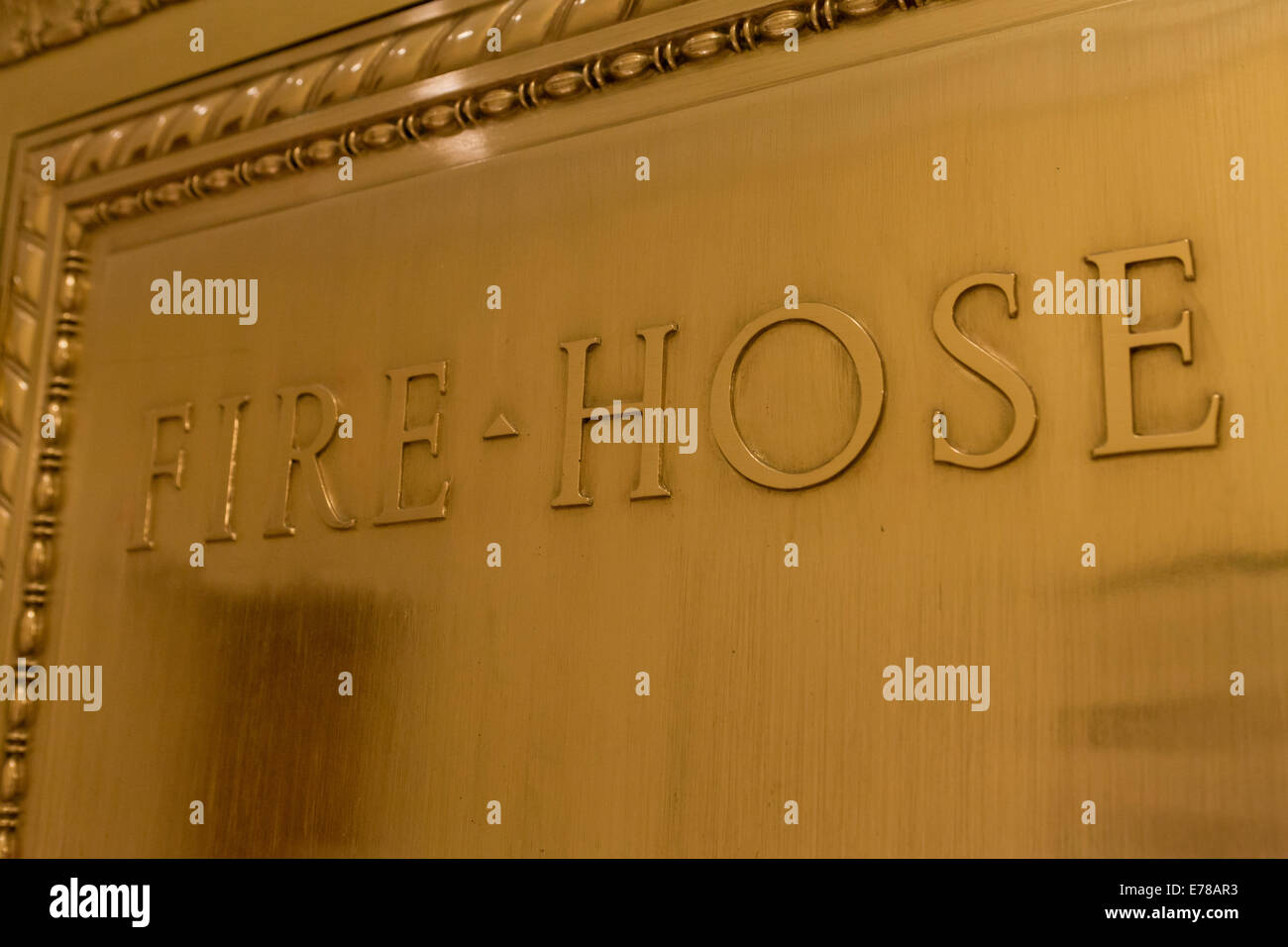 Fire hose box - USA - Stock Image