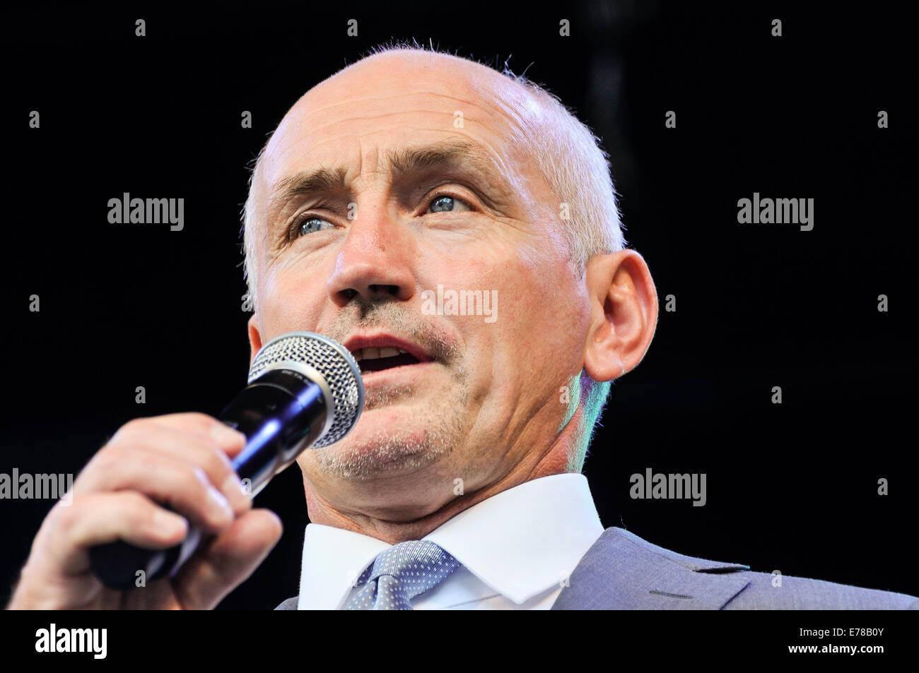 Belfast, Northern Ireland. 9 Sep 2014 - Former boxing world champion Barry McGuigan Credit:  Stephen Barnes/Alamy - Stock Image