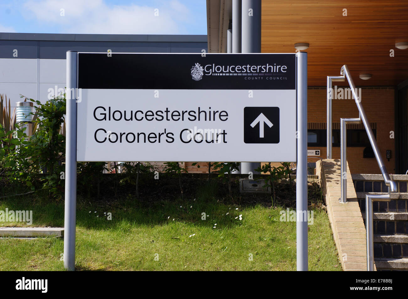 gloucestershire coroners court - glouc UK - Stock Image