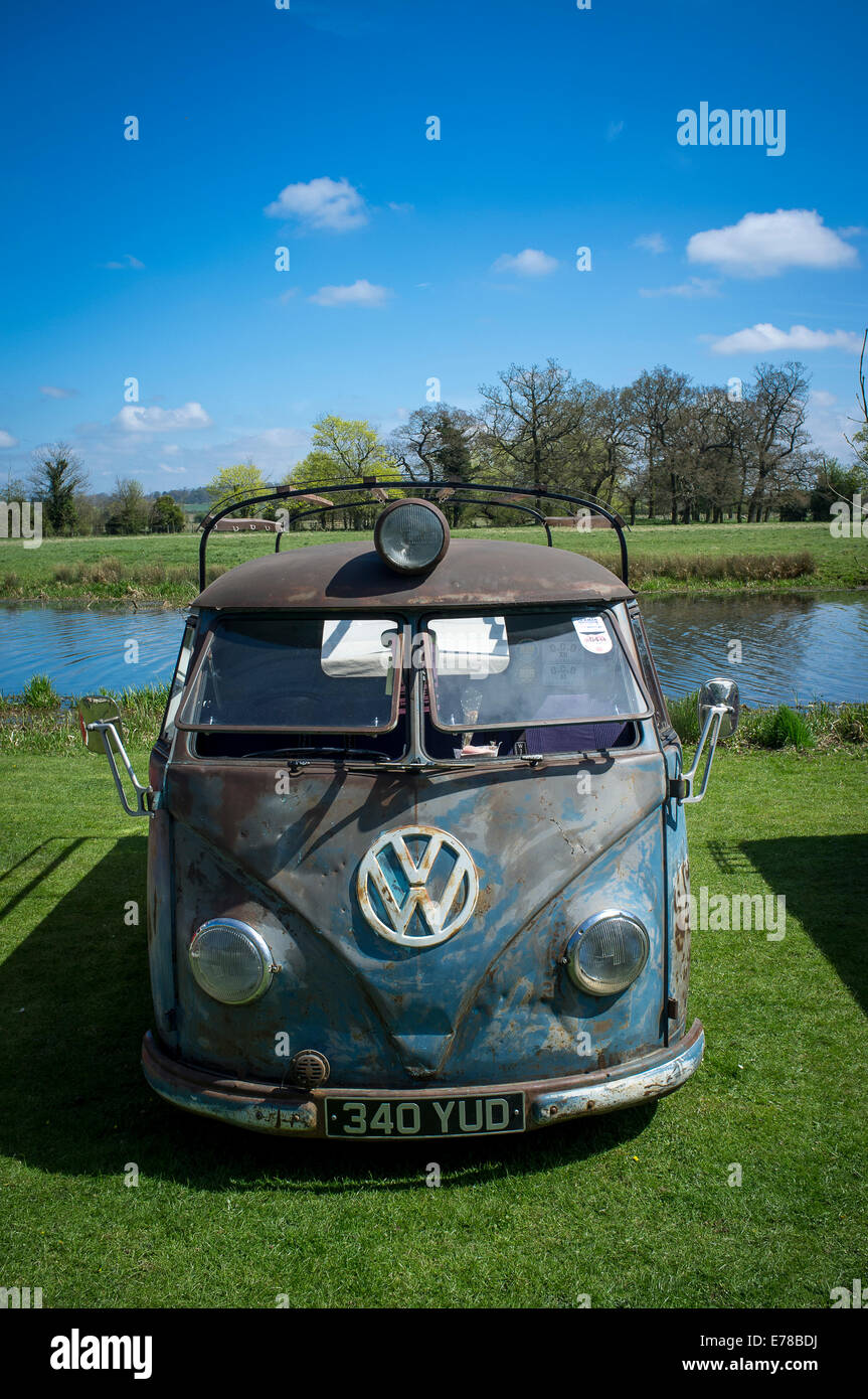 5b253c8227 Classic volkswagen camper van in need of restoration. - Stock Image