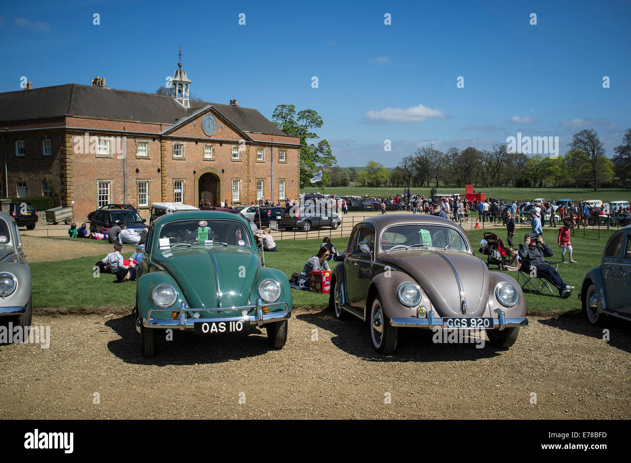 Beautifully maintained classic Volkswagen Beetle car. Stock Photo