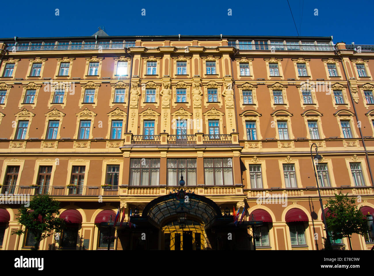 Grand Hotel Europa, central Saint Petersburg, Russia, Europe - Stock Image