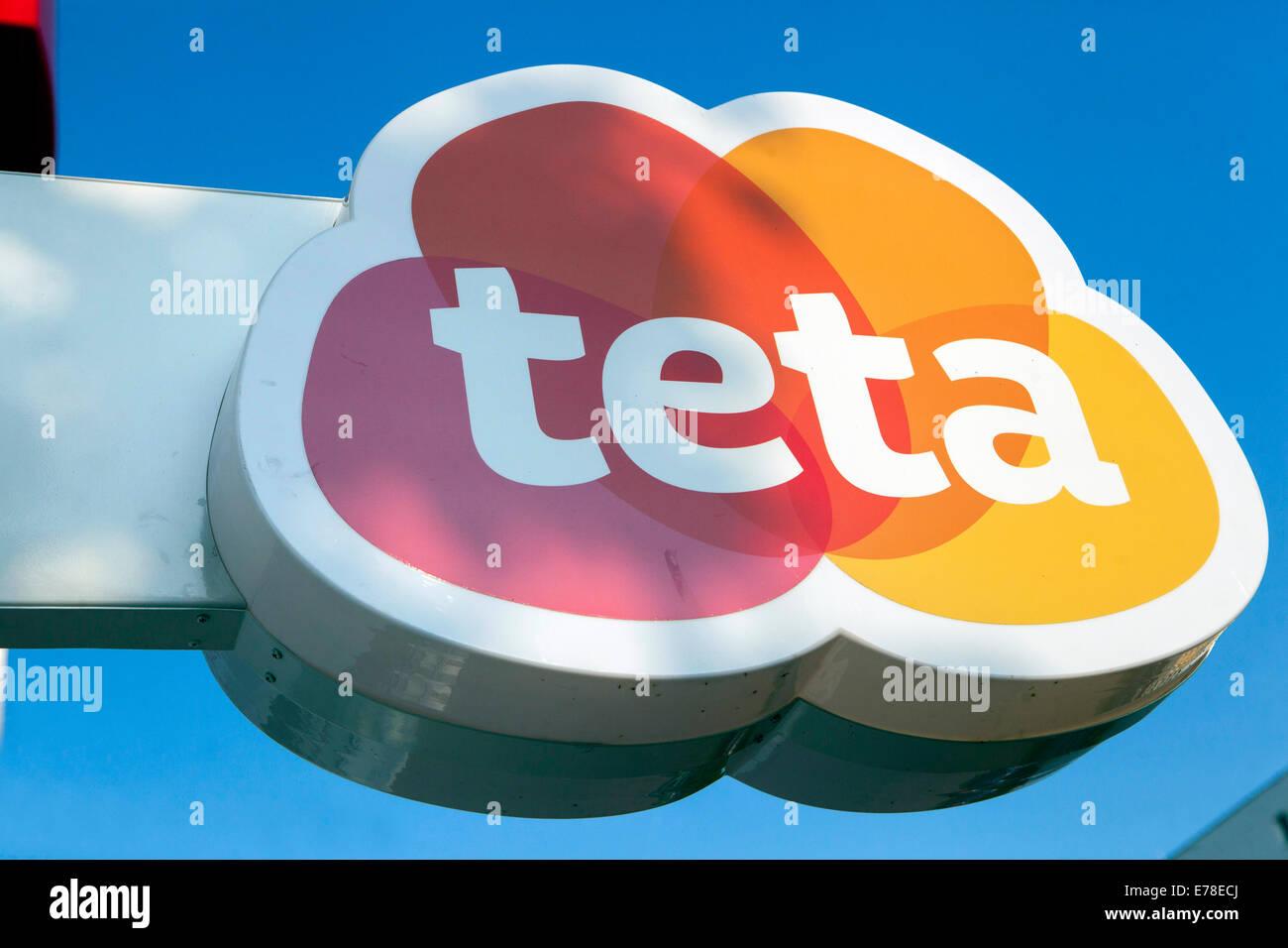 Teta perfumery logo sign Stock Photo